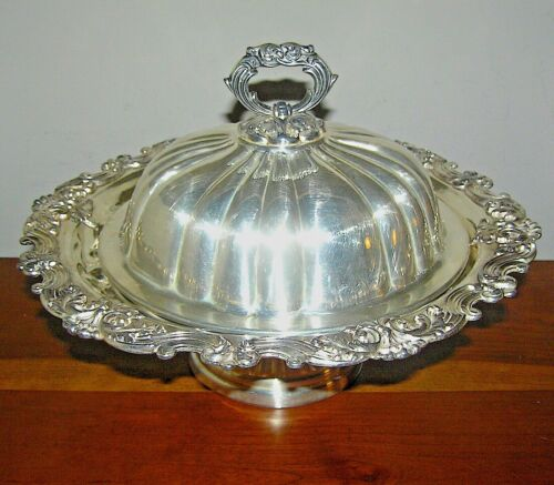 Antique Silverplate Covered Serving Dish