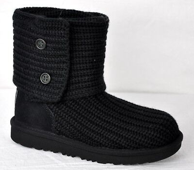 UGG Kids Cardy Knit II Winter Button Boot 1017328K Black Size 13 for sale  San Antonio
