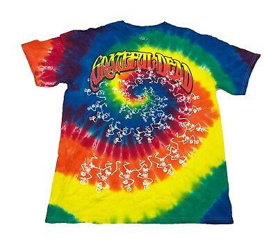- Grateful Dead Dancing Skeleton Spiral Tie Dye Men's T Shirt