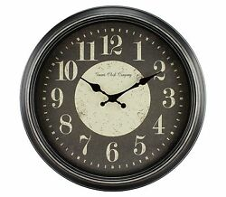 4646G Geneva Clock Company 15.75 Plastic Antique Black Finish Analog Wall Clock