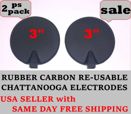 """3"""" RUBBER ELECTRODE CARBON MULTI-USE for CHATTANOOGA VECTRA GENISYS SERIES 2 PS"""