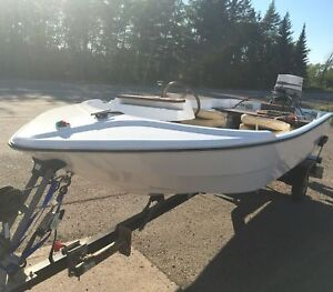 13 ft side console W/35 Johnson