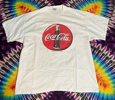 Vintage 1998 Coca Cola Large Graphic Single Stitch T-Shirt Size XL *RARE*