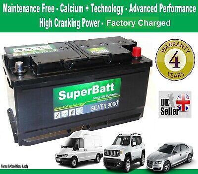 AUDI, BMW, CHRYSLER, FORD, JAGUAR, JEEP, LAND ROVER Car Battery -SuperBatt 019