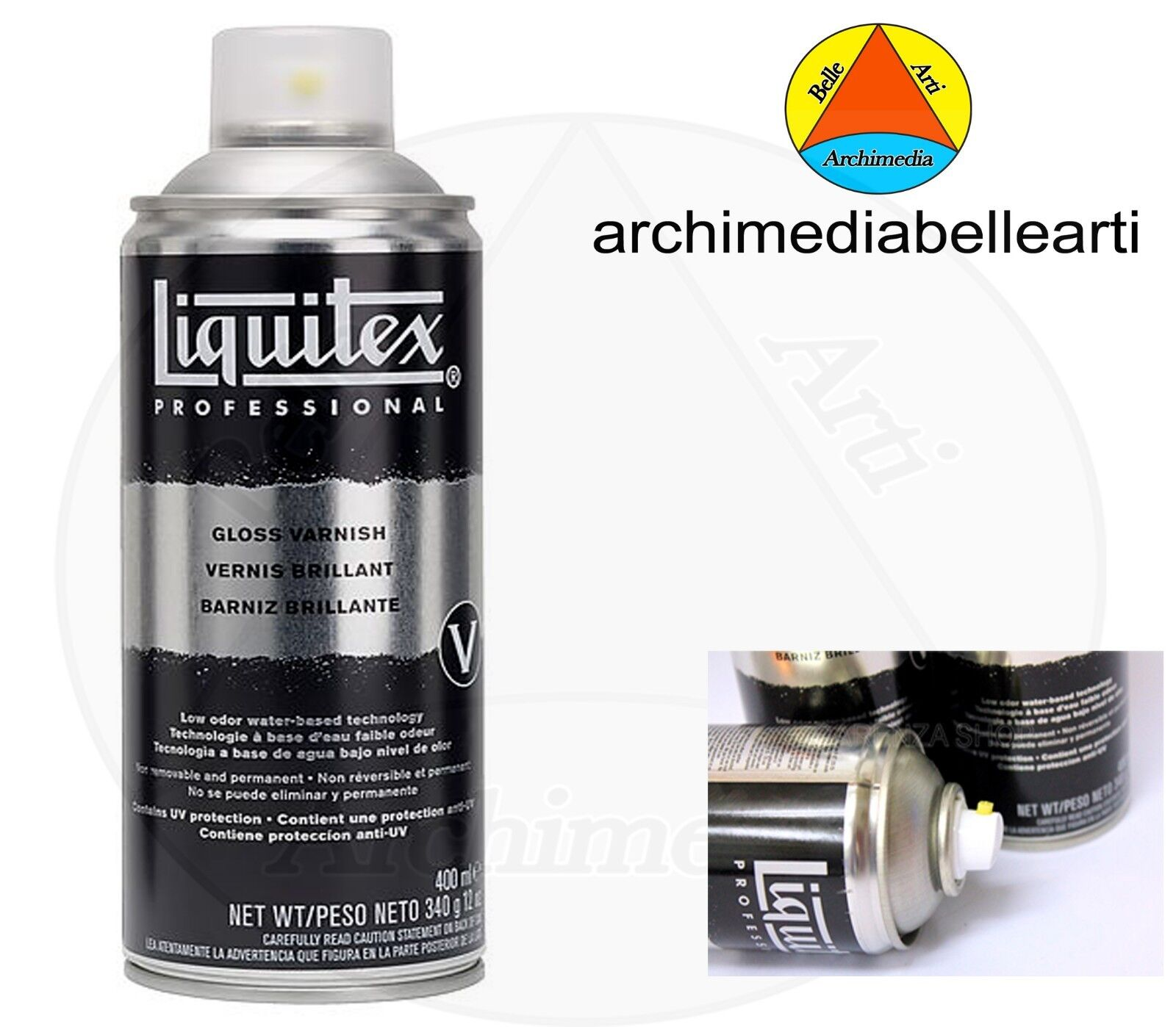 LIQUITEX VERNICI VERNICE FINALE BRILLANTE ACRILICO SPRAY VARNISH GLOSS  400ML