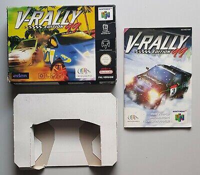 V-Rally Edition 99 Verpackung für das N64 mit Anleitung und Inlay, PAL