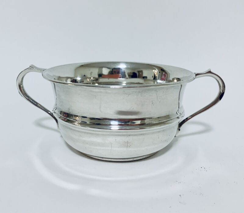 Quality Antique Solid Sterling Silver Twin Handled Bowl Sugar Dish 1933