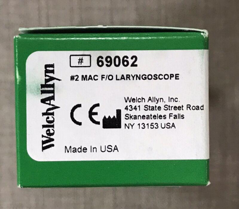 Welch Allyn 69062 #2 MacIntosh Fiber Optic Laryngoscope Blade NIB