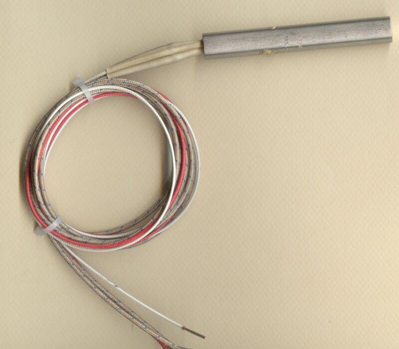 """FAST HEAT Cartridge Heater 1/2"""" Dia x 3.5"""" 3 1/2 Long 175W 240V 34"""" Leads Type J"""