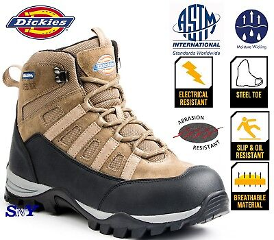 Steel Toe Slip Oil Electrical Resistant Moisture wicking work boots shoes dk