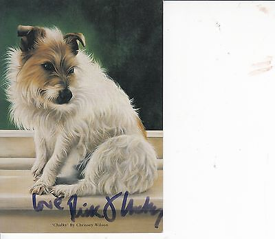 RICK STEIN/CHALKY AUTOGRAPHED POST CARD