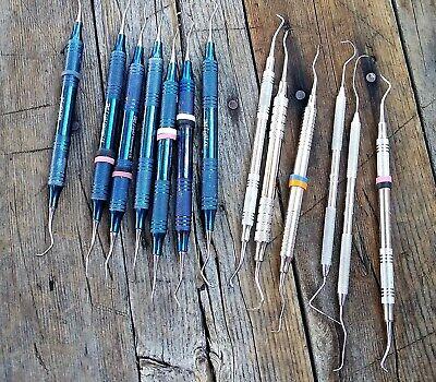 Lot Of 13 Dental Tools Rite-hu Friedy Medentra Barnhart Pick Scaler Prob