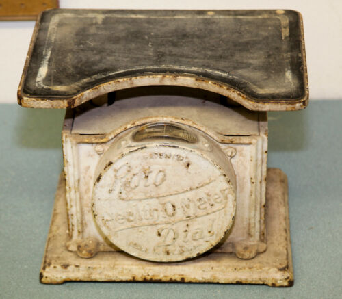 Antique Roto Dial Health-O-Meter Scale Cast Iron