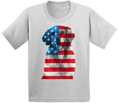 USA Flag Golden Retriever Youth Kids T shirt Tops Independence Day Gift - Golden Retriever Usa Flag