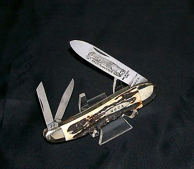 Kissing Crane Whittler's Knife 1980 NKCA Founders Edition Rob Klaas #1539 Stag
