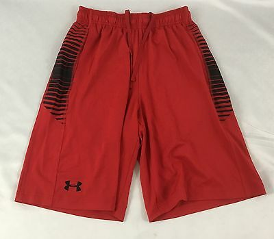 Under Armour MEN'S Athletic Shorts Loose Heat Gear Red 1291317 Size L