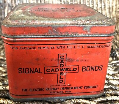 Cadweld Signal Bonds Tin Elec Railway Vintage