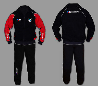 Sweatsuit Jacke Hose (BMW M POWER Anzug Jogginganzug Set Sweat Suit Trainings Jacke Hose STICKEREI EUR)