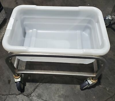 Winholt Ss-l-1 Stainless Steel Lug Rack 1 Lug Capicty W White Tub