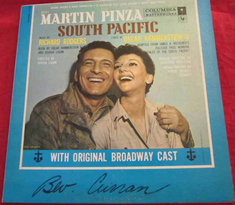 South Pacific Record/vinyl/LP~Broadway~Mary Martin & Ezio Pinza~FREE US SHIP