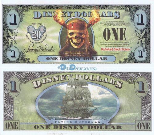 WDW 2007 $1 FF 5 Digits MINT Pirates of Caribbean Dutchman Disney Dollar Dollars