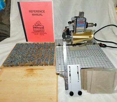 Howard Imprinting Machine Personalizer Hot Foil Stamp W Type Instruction Book