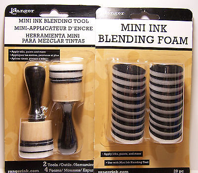Ink Blending Tool - Mini Ink Blending Tool Set w/ 20pc Replacement Foam Apply Inks & Paints to Paper