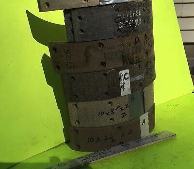 Ford, Chrysler, GM, other, brake lining.  About 10  inch drum.   Item:  8332
