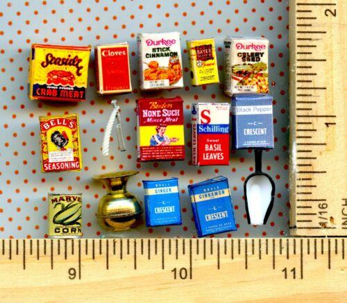 Vintage  DOLLHOUSE Miniature Visual Bargain Grab Bag Sales Lot  # 2883