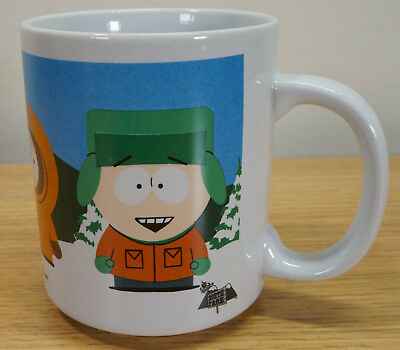 Vintage Retro Original 1999 SOUTH PARK COMEDY CENTRAL CUP MUG Cartman Kenny Stan