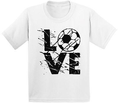 LOVE Soccer Youth Kids T shirt Tops Team Sports Soccer - Soccer Team Gifts