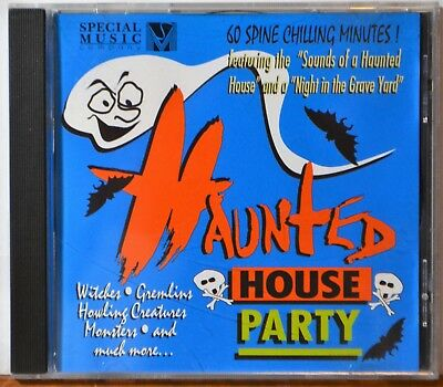 CD Haunted House Party Halloween Scary Horror Witches Gremlins Graveyard Howling ()