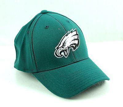 Philadelphia EAGLES Green Basic Logo Flex Structured Hat Cap NFL OSFA Green Basic Logo Hat