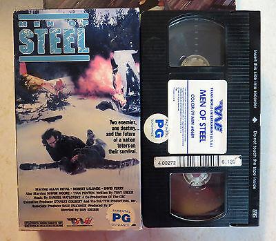 VHS: Men Of Steel: rare Canadian TV Movie Survival Drama 1977 Allan Royal