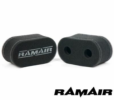 2 x RAMAIR Foam Carb Trumpet Socks Air Filter fits Weber DCOE Dellorto DHLA