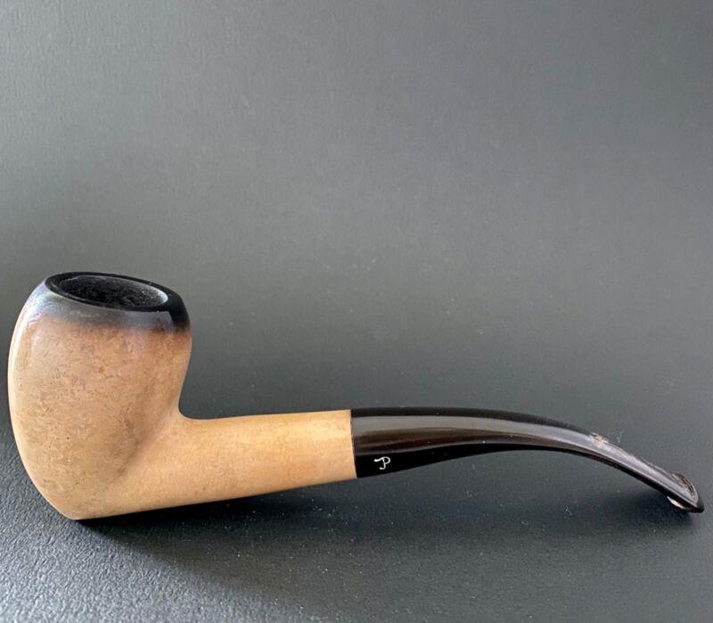 Pioneer Block Meerschaum Vintage Estate Pipe hand carved RARE SHAPE - FUMED TOP