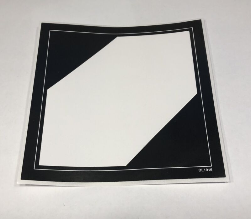 Limited Quantity Ground Label Stickers 4x4 20 Count