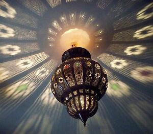 lustre plafonnier marocain fer forg lampe applique lanterne oriental 50 cm. Black Bedroom Furniture Sets. Home Design Ideas