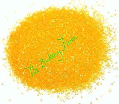 YELLOW SANDING SUGAR SPRINKLES CAKE POP COOKIE CUPCAKE DECORATION PARTY 4 - Yellow Sprinkles