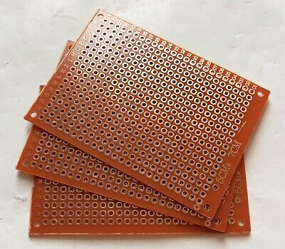 3pcs Single Sided Perf Board Pcb Diy Universal Prototype Paper 5x7cm 50x70mm