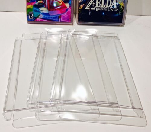 5 Box Protectors for NINTENDO SWITCH Video Games  Custom Display Cases Sleeve