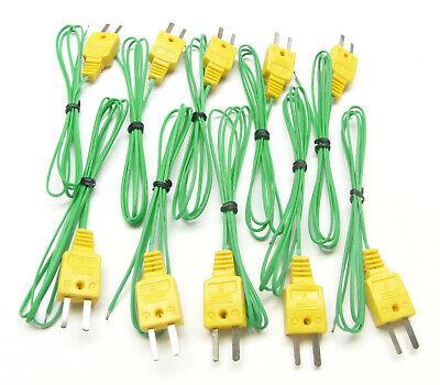 K-type Thermocouple Wire F. Digital Thermometer Temperature Sensor Probe Tc1 10x