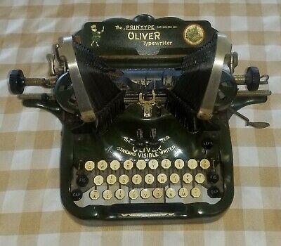 Antique OLIVER  STANDARD VISIBLE No. 9 Bat Wing Typewriter  Serial 831921