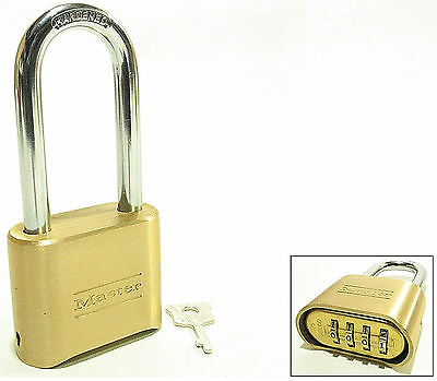 Master Lock Brass Combo Padlock 175lh Set Your Own Combo Over 25 Free Shipping