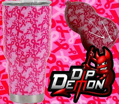 Pink Ribbon Camo Hydrographic Water Transfer Film Hydro Dip Dipping
