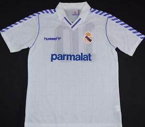 1989-1990 REAL MADRID MATCH WORN HUMMEL HOME FOOTBALL SHIRT (SIZE XL)