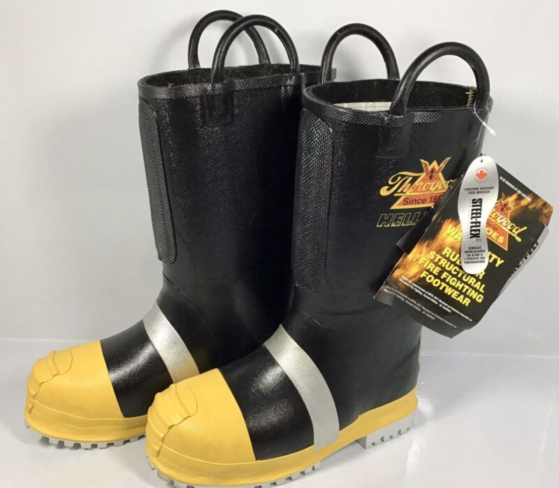 NEW Thorogood Hellfire Boots MENS US 8W Wide, Structural Fire  Fighting 807-6003