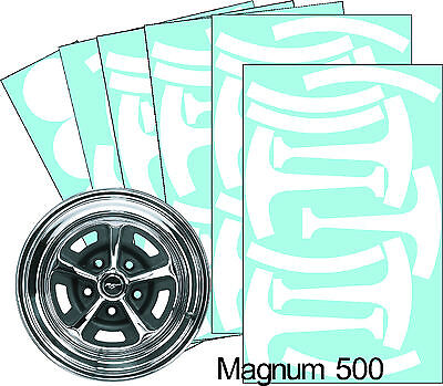 "Mustang Magnum 500 14"" Wheel Paint Mask Stencil Kit"