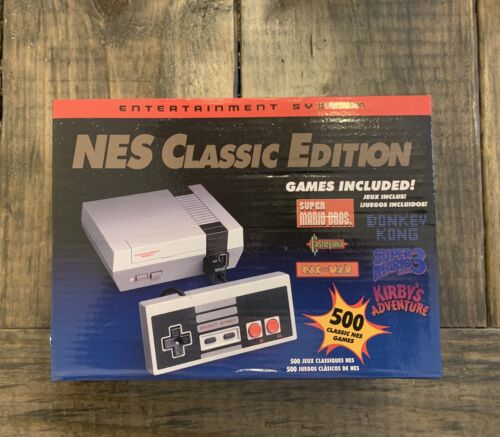 NES Classic Edition Gaming Console - Gray -500 games included