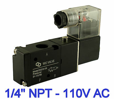 14 Inch Pneumatic 3 Way Electric Air Directional Control Solenoid Valve 110v